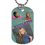 nicolette dog tag 3 - Dog Tag (Two Sides)