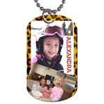 alex dog tag 2 - Dog Tag (Two Sides)