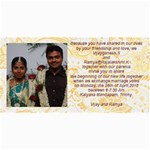 vijay-Ramya wedding - 4  x 8  Photo Cards