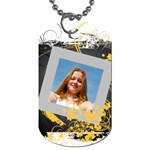 Flower Tage - Dog Tag (One Side)