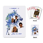 Sample Wedding Favor Cards - Playing Cards Single Design (Rectangle)