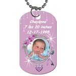 it s a girl dogtag - Dog Tag (One Side)