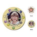 little charmer cards - Playing Cards Single Design (Round)