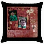 cushion 1 - Throw Pillow Case (Black)