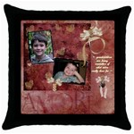 cushion 2 - Throw Pillow Case (Black)