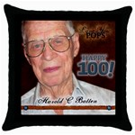 pops pillow - Throw Pillow Case (Black)