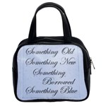 Old New Borrowed Blue Brides Handbag - Classic Handbag (Two Sides)
