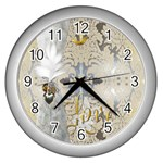 Love Clock - Wall Clock (Silver)