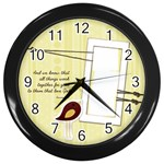 chirp! chirp! clock - Wall Clock (Black)