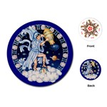 Aquarius Zodiac \playing Cards - Playing Cards (Round)