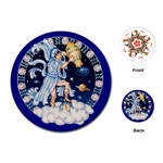Aquarius Zodiac playing Cards - Playing Cards Single Design (Round)