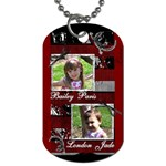 girls dogtag1 - Dog Tag (One Side)