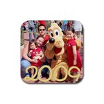 pluto coaster - Rubber Coaster (Square)