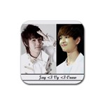JAY AND ONEW :P - Rubber Coaster (Square)