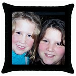 Custom photo pillowcase - Throw Pillow Case (Black)