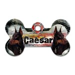 CaesarTag - Dog Tag Bone (Two Sides)