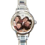 Mom s Watch - Round Italian Charm Watch
