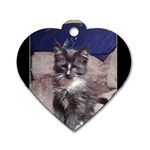 Poohkittae Has My Heart - Dog Tag Heart (One Side)