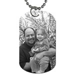 Grandpa with Isabella! - Dog Tag (Two Sides)