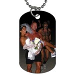 Wedding DogTags www.RavenRun.net The RunAway Bride & Creve - Dog Tag (One Side)