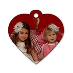 CALI AND PIPER DOG TAGS - Dog Tag Heart (One Side)
