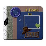 A Toast to DAD - Large Mousepad
