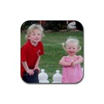 Deston and Georgana coaster - Rubber Coaster (Square)
