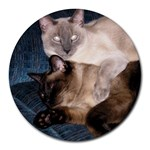 Oscar and Simon - Round Mousepad