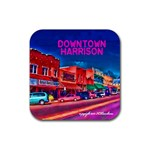 Downtown Harrison Coaster - Rubber Coaster (Square)