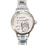 Dr. Horrible Watch - Round Italian Charm Watch