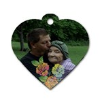 Glen and Mom - Dog Tag Heart (One Side)