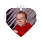 monkey tag - Dog Tag Heart (Two Sides)
