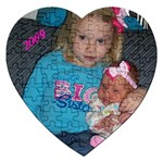 heart puzzle with Cady and Heidi - Jigsaw Puzzle (Heart)