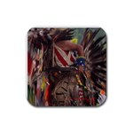 Pow Wow  - Rubber Coaster (Square)