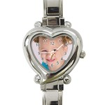 Addy on a Watch - Heart Italian Charm Watch