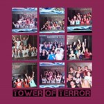 tower of terror ride collage - ScrapBook Page 12  x 12