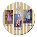 Life s Greatest Blessings - Collage Round Mousepad