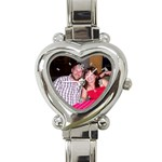 My photo watch - Heart Italian Charm Watch