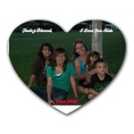 mouse pad of me and the kids june 2010 - Heart Mousepad