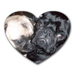 pug heart mousepad