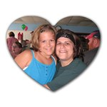 Lori and Mara - Heart Mousepad