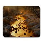 Landing In The Creek - Large Mousepad