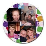 owen & kadence wright - Collage Round Mousepad