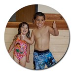 Last day of Swim Lessons! - Round Mousepad