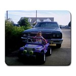 Autumn s first car - Large Mousepad