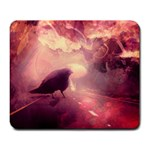 The Mushroom and The Crow - Large Mousepad