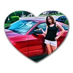 Me and the Mustang - Heart Mousepad