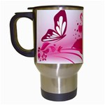 Pink - Travel Mug (White)