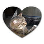 Abby does facebook too! - Heart Mousepad