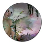 Blonde Ivy Fairy - Round Mousepad